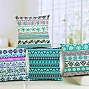 Set od 4 stilski geometrijska pamuka / lana dekorativni jastuk naslovnici