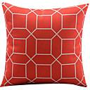 トレリス赤いコットン/リネン装飾枕カバー