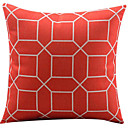 rešetka crveno pamuk / lan dekorativni jastuk pokriti