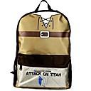 Bag Inspirirana Napad na Titanu Cosplay Anime Cosplay Pribor Bag / ruksak Crna / Smeđa Nylon / PVC Male / Female