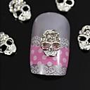 10pcs srebro lubanja 3d bižuterija legure nail art ukras