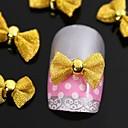 指先アクセサリーネイルアートの装飾のための10個入りの金の蝶ネクタイ