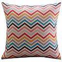 vimineous zigzag pamuk / lan dekorativni jastuk pokriti