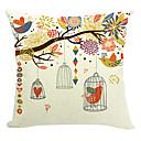 pták strana bavlna / len dekorativní polštář