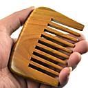 Natual veliki češalj udaljenost zub 9x6.7cm Brazil zeleni sandalovina drveni češalj zdravlje češalj
