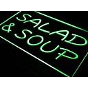 i453 salát a polévka kavárna restaurace neonové světlo nápis