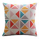 multi-barevný trojúhelník bavlna / len dekorativní polštář