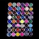 48 barvy třpytí nail art dekorace kombinace