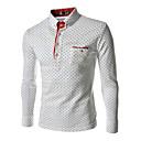 zian® pánské límec módní puntíky business casual košile s dlouhým rukávem o