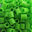 子供のための約500枚/袋5ミリメートルライムグリーンperlerビーズヒューズビーズ浜ビーズDIYのジグソーパズルEVA素材のセイフティ