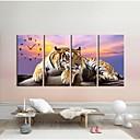 Tiger sat u platnenim 4pcs