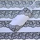 bijelom čipkom noktiju naljepnice
