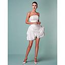 Lanting Bride® ボールガウン 小柄 / 大きいサイズ ウェディングドレス - シック&モダン / 披露宴ドレス ホワイトドレス ショート/ミニ ストラップレス タフタ とともに