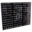 1 ks 250 designu velký nail art razítko ražení image šablona deska / nehty blány (náhodný vzor)