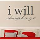 jiubai ™ ljubav citat naljepnica zid zid decal, 85cm * 44cm