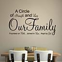 jiubai ™ rodina quote zeď nálepka Lepicí obraz na stěnu