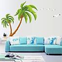 doudouwo®壁ステッカーウォールステッカー、植物美しいココナッツの木ポリ塩化ビニールの壁のステッカー