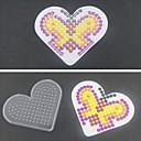 1pcs predložak jasno pegboard ljubavi srce za 5mm Hama perli perler perle osigurač kuglice
