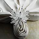 akrilna cvijet salveta prsten, akril, 4,5 cm, set od 12
