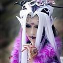 Cosplay Wigs Cosplay Cosplay Bijela Long Anime Cosplay Wigs 100 CM Otporna na toplinu vlakna Female