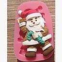 Božić Mraz štaka Fondant kolač od čokolade silikona torta dekoracija alati, l7.8cm * w5cm * h1.7cm