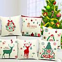 6コットン/リネン装飾枕カバーのメリークリスマスセット