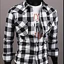 ruilike®men je stav ovratnik provjera uzorak košulje