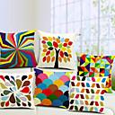 Šaren set 6 pamuka / lana dekorativni jastuk naslovnici