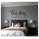 jiubai® milostný příběh quote zeď nálepka Lepicí obraz na stěnu, 43cm * 90cm