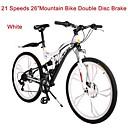 Mountain Bike Biciklizam 21 Brzina 26 inča/700CC Uniseks Dvostruka disk kočnica Vilica s oprugom Stražnja suspenzija Običan Čelik