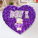 51 růže ve tvaru srdce éterický olej růže mýdlo květ s písmeny a medvěd