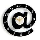 Stylové abecedy dekorativní nástěnné hodiny - bílá + černá (1 x AA)