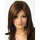 capless visoke kvalitete prilično srednje ravne smeđe kose perika