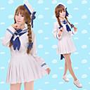 Inspirirana Wadanohara Cosplay Anime Cosplay nošnje Cosplay Suits Jednobojni Bijela Dugi rukav Top / Suknja / Šešir / Rukavi