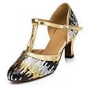 Može se prilagoditi - Ženske - Plesne cipele - Moderni plesovi - Šljokice - Prilagođeno Heel - Plav / Zlato