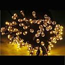 21m Solární barvy 200 vedl Vánoce strana indoor outdoor víla stringlight vánoční lampa -yellow