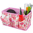 方形化粧品収納スタンドボックス化粧ブラシポットを折る化粧オーガナイザー(選べる3色)