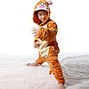 Kigurumi Pidžama Tigar Hula-hopke/Onesie Festival/Praznik Zivotinja Odjeća Za Apavanje Halloween Crn / Bijela Kolaž Flanel Kigurumi Za