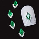 10pcs zeleni Marquise 3d Rhinestone DIY aluminijski pribor nail art ukras