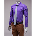 Purple Slim Fit Long Sleeve Shirt