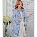 růžové doll® dámská móda elegantní tenký vlněný kabát