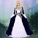 Inspirirana Vocaloid KAITO Video igra Cosplay Kostimi Cosplay Suits / Dresses Kolaž Bijela / Crna Dugi rukav Haljina / Kravata / Pojas
