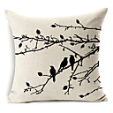 country stilu ptica uzorak pamuka / lana dekorativne jastučnicu