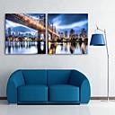 E-home® rastegnut na čelu platnu print umjetnosti mosta i izgradnju grada bljesak djelovanje vodio set od 2