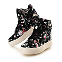 Žene Proljeće Ljeto Jesen Zima Ravne platformke Udobne cipele Platno Aktivnosti u prirodi Ležeran Platforma Vezanje Crna Bijela