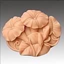 アサガオの花の形のフォンダンケーキチョコレートシリコーン型