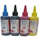 エプソン用昇華インク100ミリリットル互換詰め替えインク(4色1ロット)