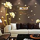 植物の / フローラル柄 ウォールステッカー プレーン・ウォールステッカー 飾りウォールステッカー,PVC 材料 再利用可 ホームデコレーション ウォールステッカー・壁用シール
