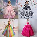 Princeza Haljine Za Barbie lutka Ljubičasta / Roza Haljine Za Djevojka je Doll igračkama