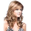 bez krytky blond dlouhé vysoce kvalitní přírodní kudrnaté vlasy syntetické paruka s bočním třesku;